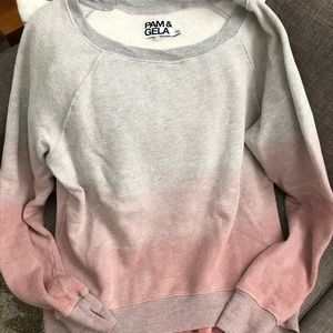 Pam and Gela High and Lo Sweatshirt Ombré size M